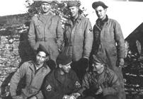 Archive image of the 111th American Ordnance Airmen whilst based at St. Dogmael's