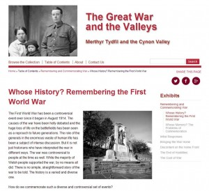 The Great War and the Valleys