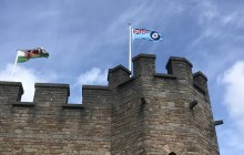 The RAF Ensign flying at Cardiff Castle © Crown Copyright, SAC Cathy Sharples