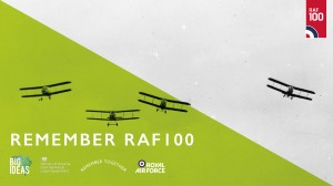Remember RAF100 branded image landscape