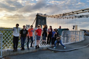 Explorer Scouts at Menai Bridge June 15