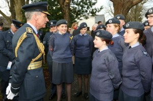 Air Chief Marshall Sir Stephen Hillier meets Air Cadets at the Lloyd George Museum  © MOD Crown Copyright 2017